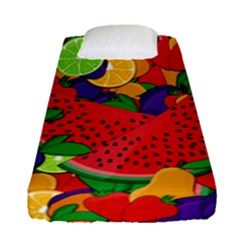 Summer Fruits Fitted Sheet (single Size) by Valentinaart