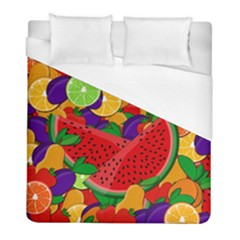 Summer Fruits Duvet Cover (full/ Double Size) by Valentinaart