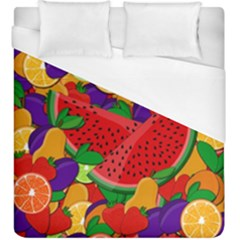 Summer Fruits Duvet Cover (king Size) by Valentinaart