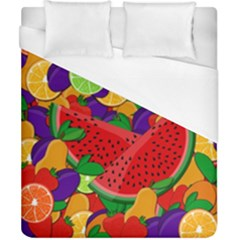 Summer Fruits Duvet Cover (california King Size) by Valentinaart