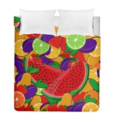 Summer Fruits Duvet Cover Double Side (full/ Double Size) by Valentinaart
