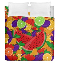 Summer Fruits Duvet Cover Double Side (queen Size) by Valentinaart
