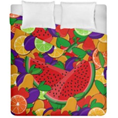 Summer Fruits Duvet Cover Double Side (california King Size) by Valentinaart