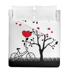 Love Hill Duvet Cover Double Side (full/ Double Size) by Valentinaart