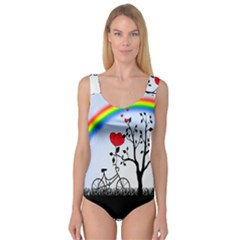 Love Hill   Rainbow Princess Tank Leotard  by Valentinaart