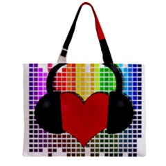 Music Zipper Mini Tote Bag by Valentinaart