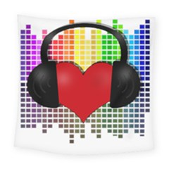 Music Square Tapestry (large) by Valentinaart