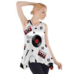 Music Pattern Side Drop Tank Tunic by Valentinaart
