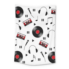 Music Pattern Small Tapestry by Valentinaart
