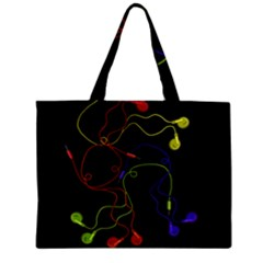 Colorful Earphones Zipper Mini Tote Bag by Valentinaart