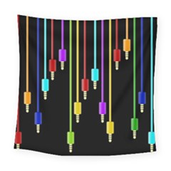 Plug In Square Tapestry (large) by Valentinaart