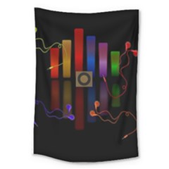 Energy Of The Sound Large Tapestry by Valentinaart