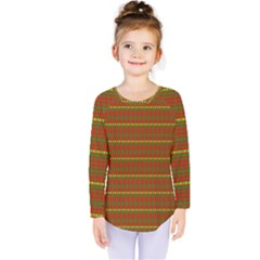 Fugly Christmas Xmas Pattern Kids  Long Sleeve Tee by Nexatart