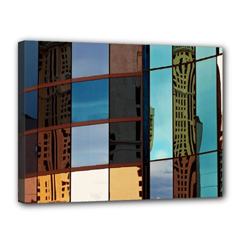 Glass Facade Colorful Architecture Canvas 16  X 12  by Nexatart