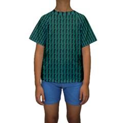 Golf Golfer Background Silhouette Kids  Short Sleeve Swimwear