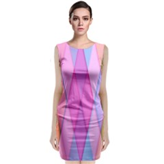 Graphics Colorful Color Wallpaper Classic Sleeveless Midi Dress
