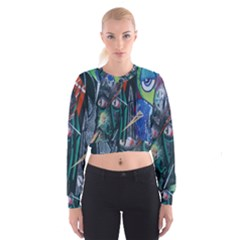 Graffiti Art Urban Design Paint Women s Cropped Sweatshirt