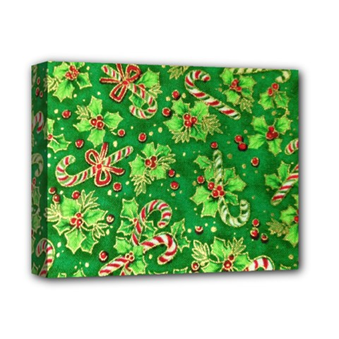Green Holly Deluxe Canvas 14  X 11  by Nexatart