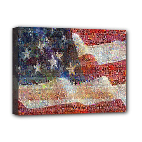 Grunge United State Of Art Flag Deluxe Canvas 16  X 12
