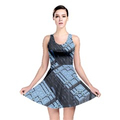 Grid Maths Geometry Design Pattern Reversible Skater Dress