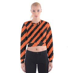 Halloween Background Women s Cropped Sweatshirt
