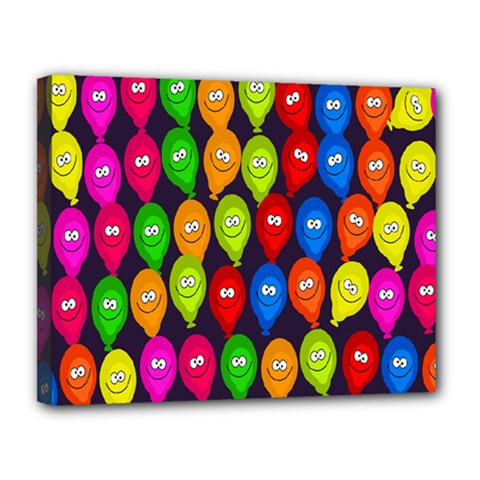 Happy Balloons Canvas 14  X 11  by Nexatart