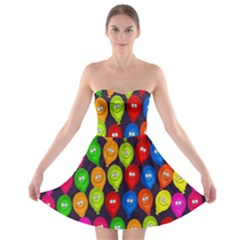 Happy Balloons Strapless Bra Top Dress by Nexatart