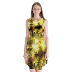 Grunge Texture Retro Design Sleeveless Chiffon Dress   by Nexatart