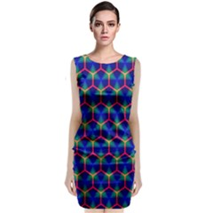 Honeycomb Fractal Art Classic Sleeveless Midi Dress
