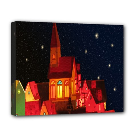 Market Christmas Light Deluxe Canvas 20  X 16