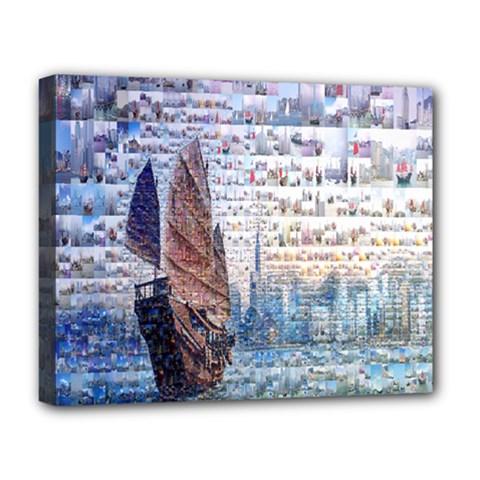 Hong Kong Travel Deluxe Canvas 20  X 16