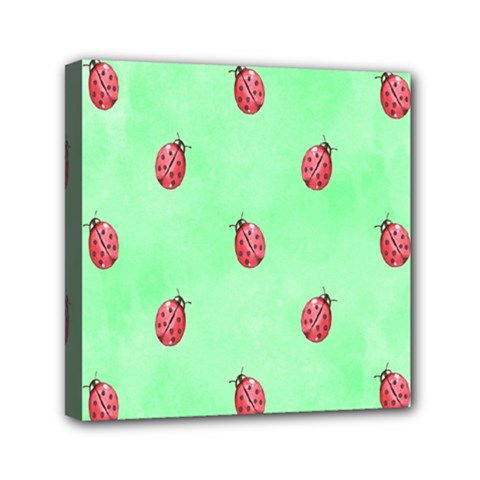 Ladybug Pattern Mini Canvas 6  X 6