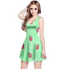 Ladybug Pattern Reversible Sleeveless Dress