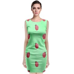 Ladybug Pattern Classic Sleeveless Midi Dress