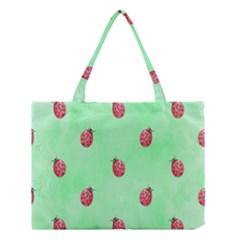 Ladybug Pattern Medium Tote Bag by Nexatart
