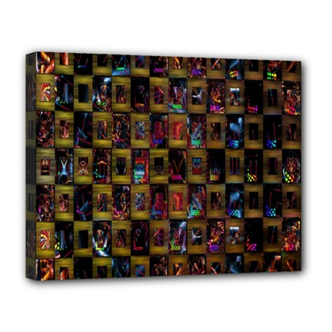 Kaleidoscope Pattern Abstract Art Canvas 14  X 11  by Nexatart