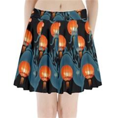 Lampion Pleated Mini Skirt by Nexatart