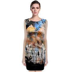 Landscape Sunset Sky Summer Classic Sleeveless Midi Dress