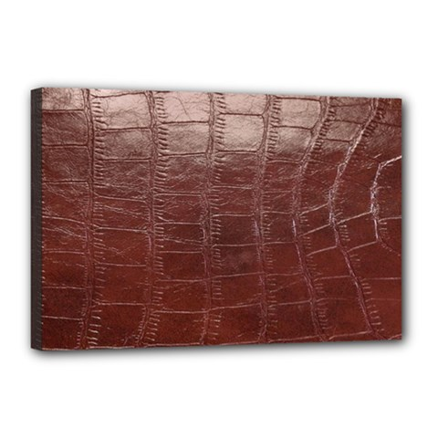 Leather Snake Skin Texture Canvas 18  X 12