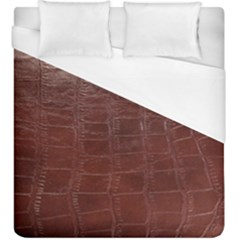 Leather Snake Skin Texture Duvet Cover (king Size) by Nexatart
