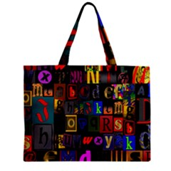 Letters A Abc Alphabet Literacy Zipper Mini Tote Bag by Nexatart