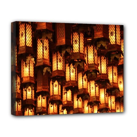 Light Art Pattern Lamp Deluxe Canvas 20  X 16