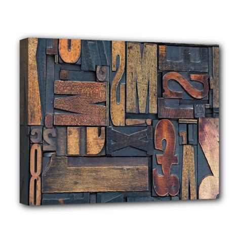 Letters Wooden Old Artwork Vintage Deluxe Canvas 20  X 16