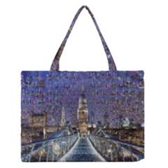 London Travel Medium Zipper Tote Bag by Nexatart