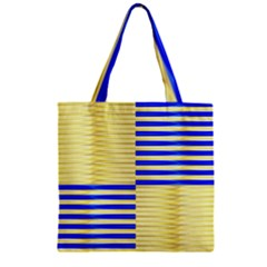Metallic Gold Texture Zipper Grocery Tote Bag
