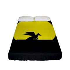 Moon And Dragon Dragon Sky Dragon Fitted Sheet (full/ Double Size)