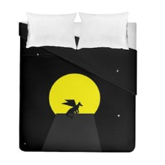 Moon And Dragon Dragon Sky Dragon Duvet Cover Double Side (full/ Double Size) by Nexatart
