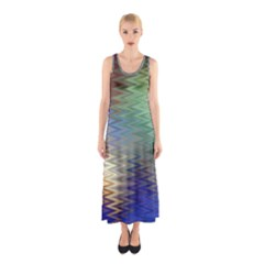 Metallizer Art Glass Sleeveless Maxi Dress