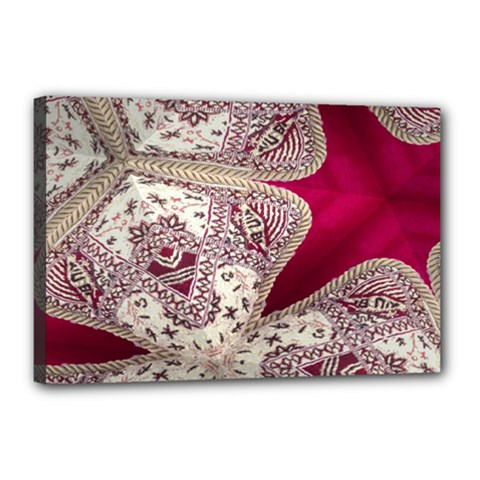 Morocco Motif Pattern Travel Canvas 18  X 12  by Nexatart