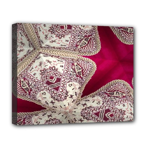 Morocco Motif Pattern Travel Deluxe Canvas 20  X 16   by Nexatart